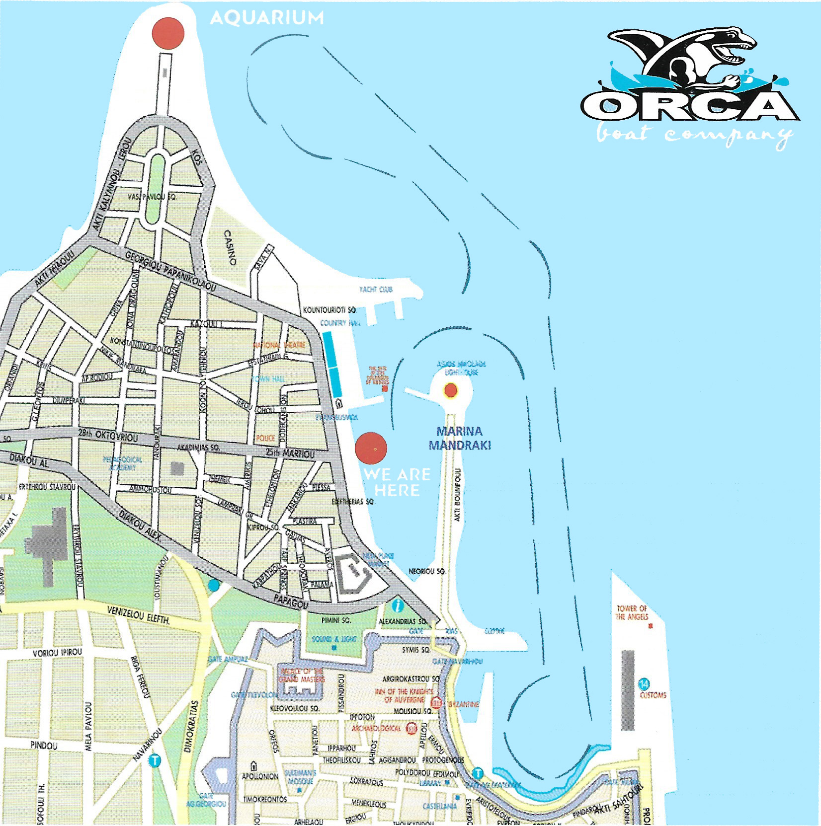 orca boat route map